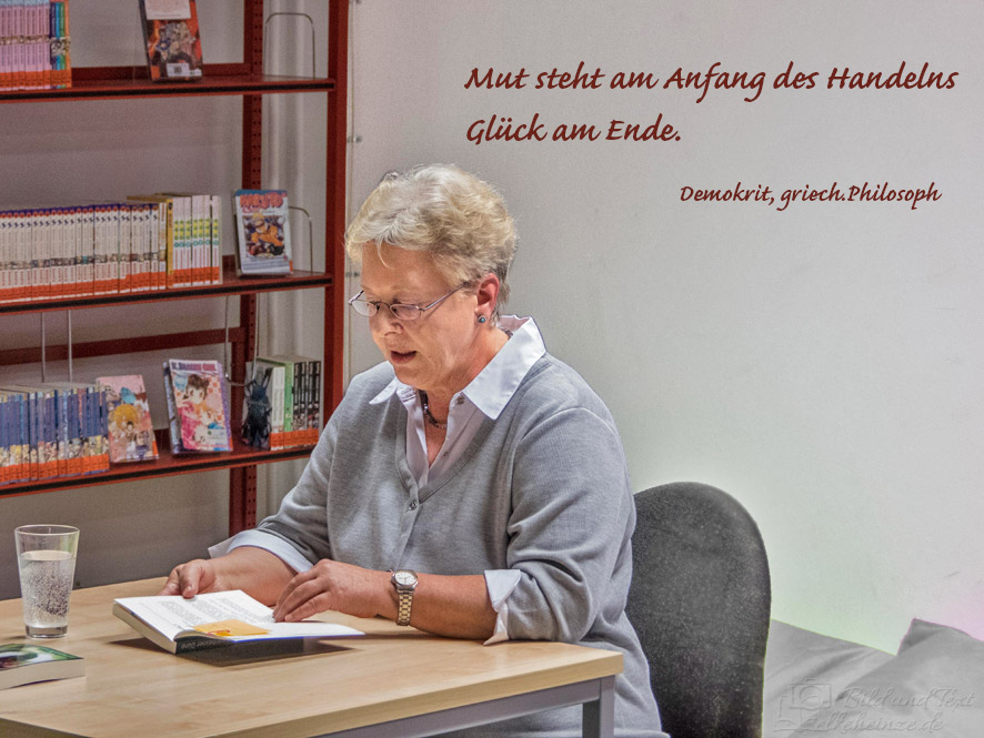Lesung mit Zitat im Bild
