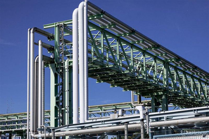 Industriepark-Rohre