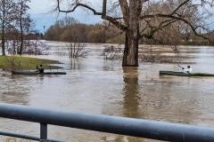 Januar mit Hochwasser