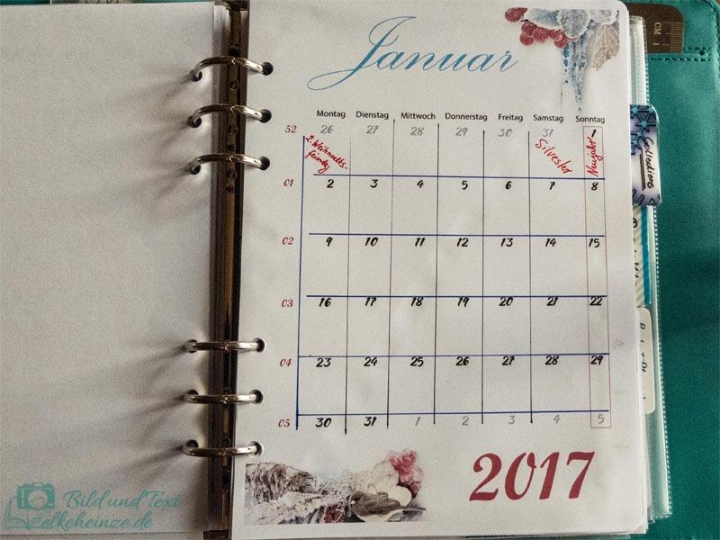Monatsübersicht 01/2017