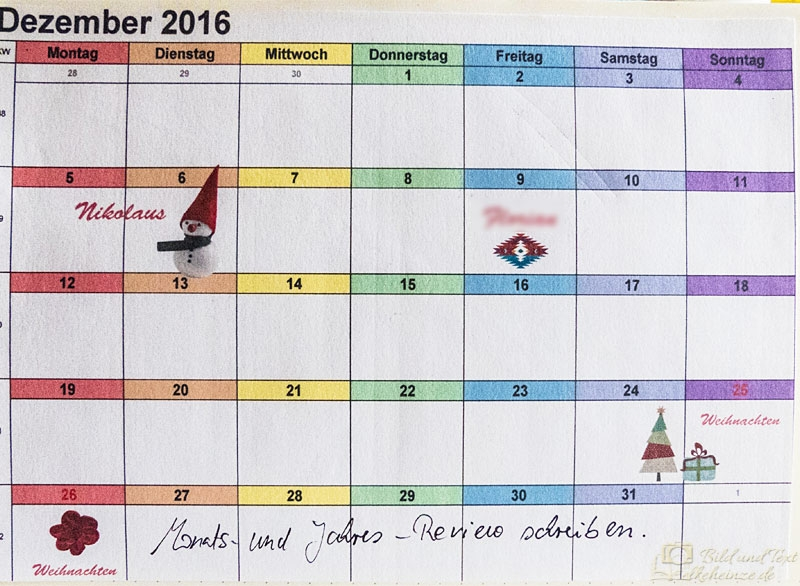 Monatsüberblick - Monthly