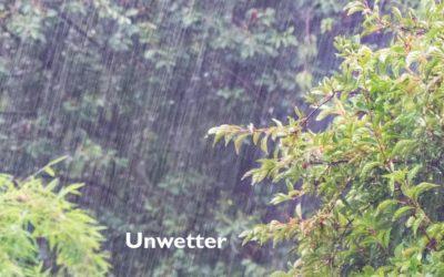 Unwetter mit Starkregen