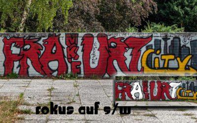 Fokus auf S/W mit Graffiti
