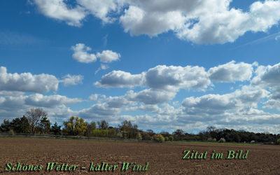 Kalter Wind von Norden …